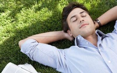 Earthing outdoors and sleeping.