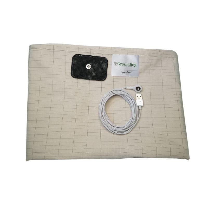 Earthing beige universal bed sheet
