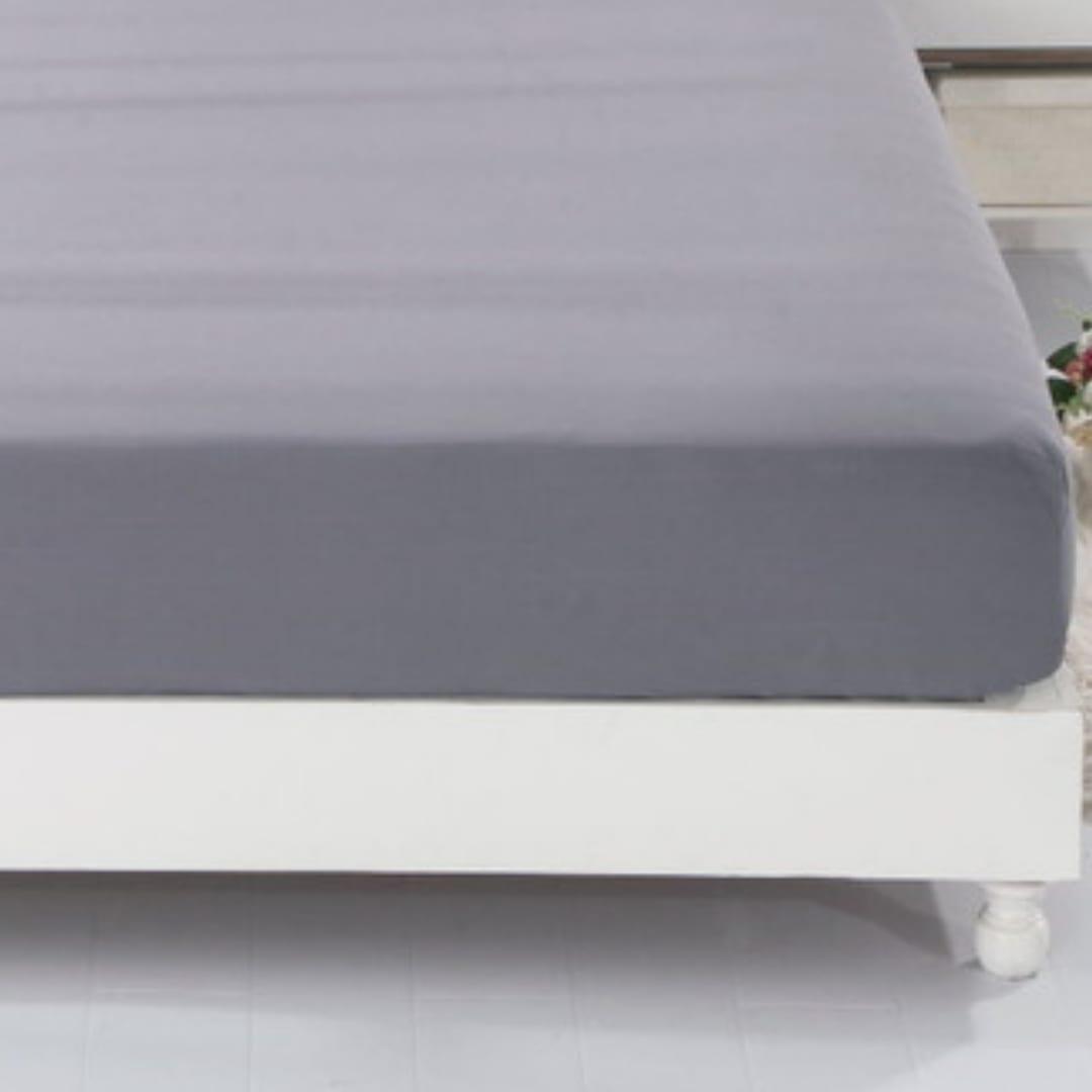 Earthing grey bed sheet.