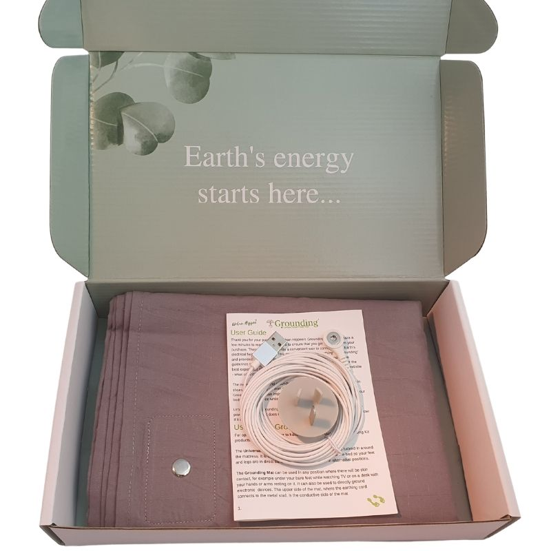 Earthing fitted sheet color grey in box.