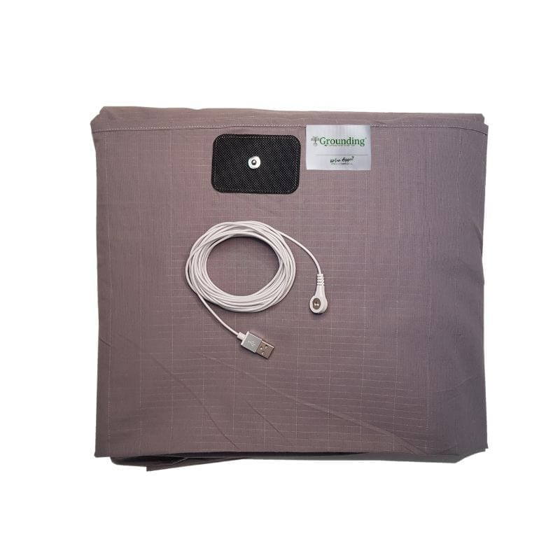Earthing, grounding bed sheet fitted queen, dark grey.