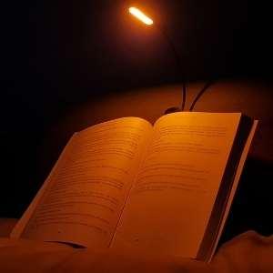 Amber book light.